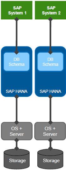 SAP HANA Dedicated Database Deployment Scenario